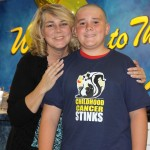 Random image: 2012 Zach and Mom with shaved head