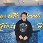 Random image: Zach at miracle center before cut