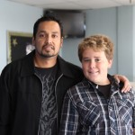 Random image: Zach with Pastor Cain